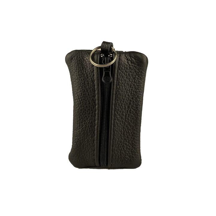 Ключница ручной работы U-fas с карманом 11 х 7 см (rr2564/1) Черная