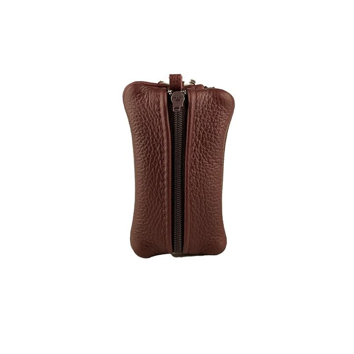 Ключница ручной работы U-fas с карманом 11 х 7 см (rr2564/1) Бордовая