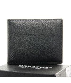 Кожаный мужской кошелек BRETTON Черный (168-26)