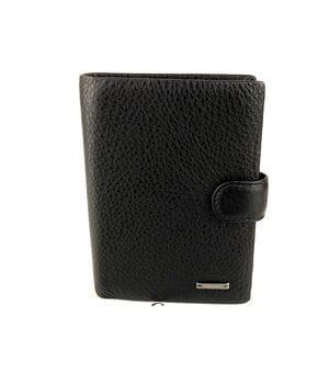 Мужской кожаный кошелек Cardinal 14 x 10.5 x 3 см Черный (302-a)