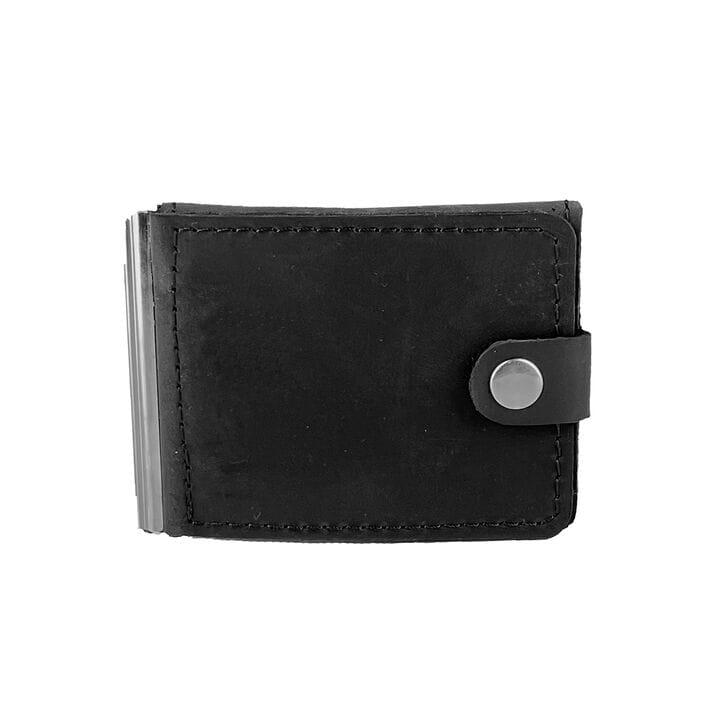 Кожаный мужской кошелек ручной работы U-fas (rr2665/1) Черный