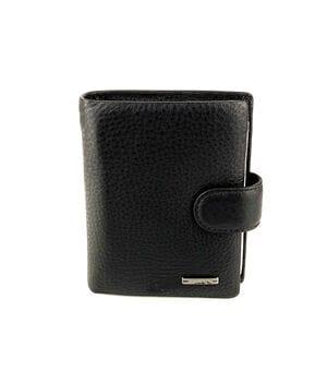 Мужской кожаный кошелек Cardinal 11.5 x 9 x 3 см Черный (233-a)