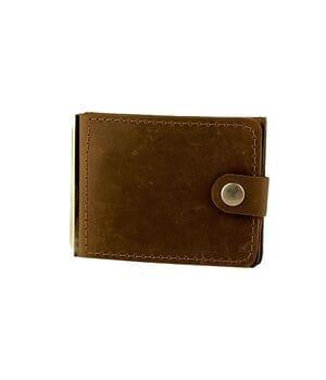 Кожаный мужской кошелек ручной работы U-fas (rr2665/2) Коричневый