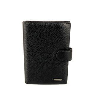 Мужской кожаный кошелек Cardinal 14 x 10 x 2.5 см Черный (302b-a)