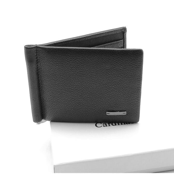 Кожаный зажим для денег Cardinal 11 x 8,5 x 1 см Черный (c119-a/1)