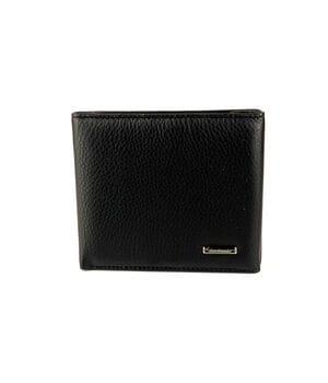 Мужской кожаный кошелек Cardinal 10 x 11 x 1.5 см Черный (043-a)