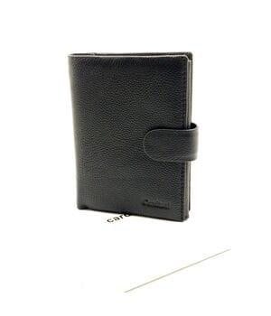 Мужской кожаный кошелек Cardinal 14 x 10,5 x 3 см Черный (k19-302/1)
