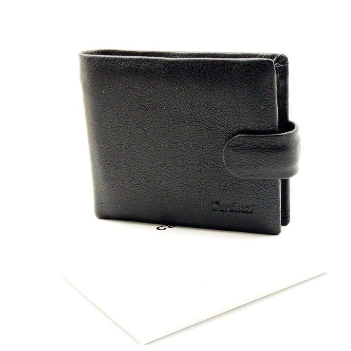 Мужской кожаный кошелек Cardinal 9,5 x 11,5 x 2 см Черный (k20-208/1)