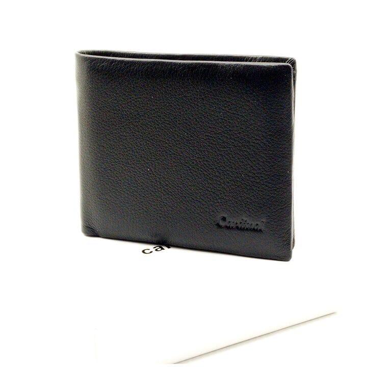Мужской кожаный кошелек Cardinal 11,5 x 9,5 x 2 см Черный (k20-208c/1)