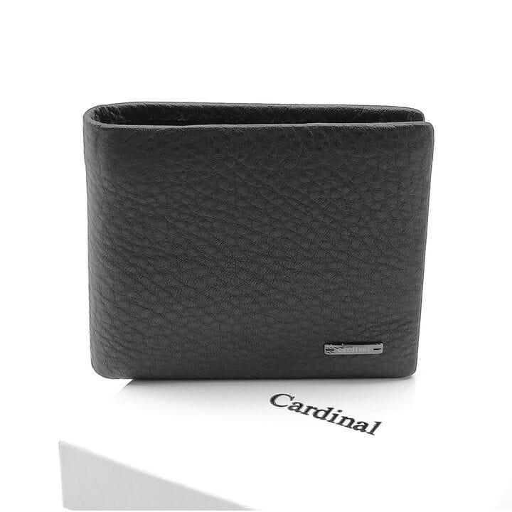 Мужской кожаный кошелек Cardinal 11,5 x 9,5 x 2,5 см Черный (c208g-a/1)