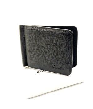 Мужской кожаный кошелек Cardinal 11 x 8,3 см Черный (k20-1077b/1)