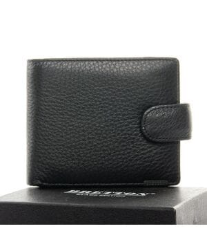 Кожаный мужской кошелек BRETTON Черный (208-0611)