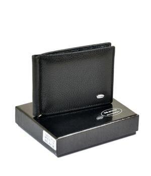 Мужской кожаный зажим для денег Dr.BOND 11 x 8,5 x 2 см Черный (mzs-3)