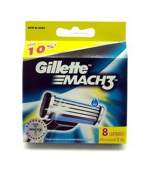 Сменные картриджы для станка Gillete Mach 3 8шт (KGM38)