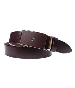 Мужской кожаный ремень JK Бордо (MA352090143)