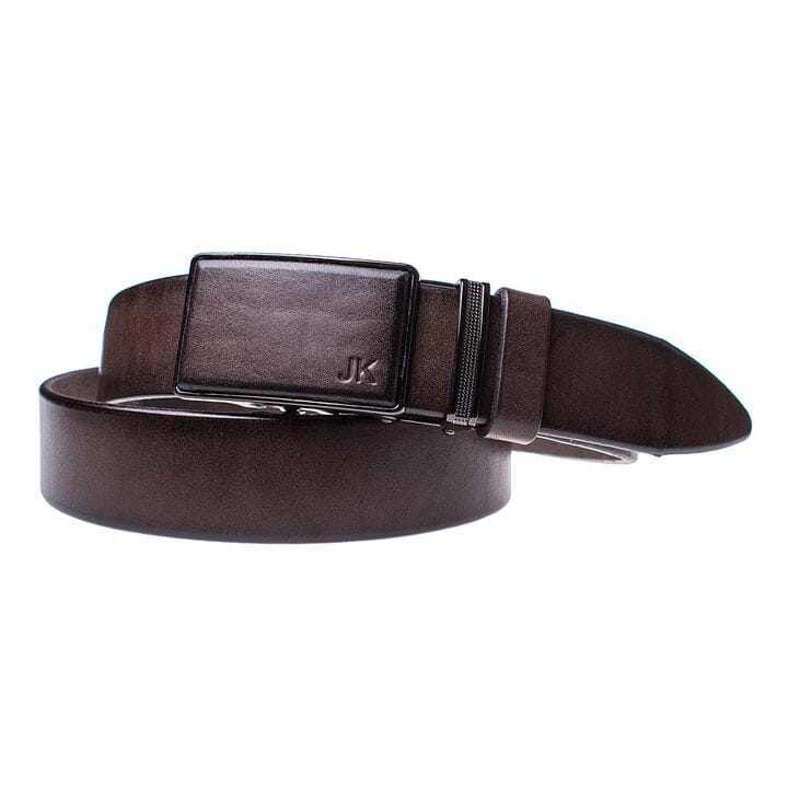 Мужской кожаный ремень JK Темно-коричневый (MA352050131)
