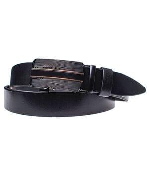Мужской кожаный ремень JK Черный (MA352010106)