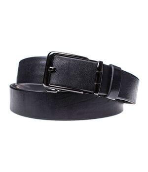 Мужской кожаный ремень JK Черный (MA352010103)