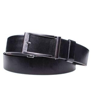 Мужской кожаный ремень JK Черный (MA352010101)