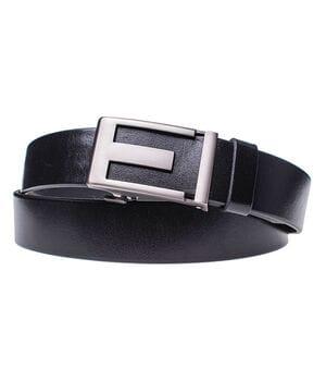 Мужской кожаный ремень JK Черный (MA352010100)