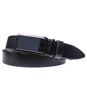 Мужской кожаный ремень JK Черный (MA352010115)