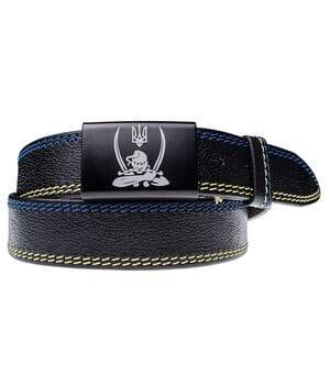 Кожаный мужской ремень JK Черный (MG40101P09)