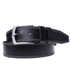 Кожаный мужской ремень JK Черный (MC451018402)
