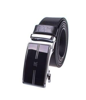 Кожаный мужской ремень JK Черный (MA352010140)