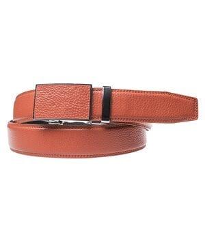 Кожаный мужской ремень JK Рыжий (G3822565)