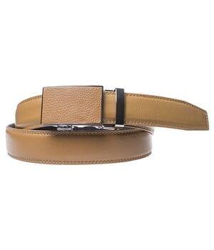 Кожаный мужской ремень JK Бежевый (G3822567)