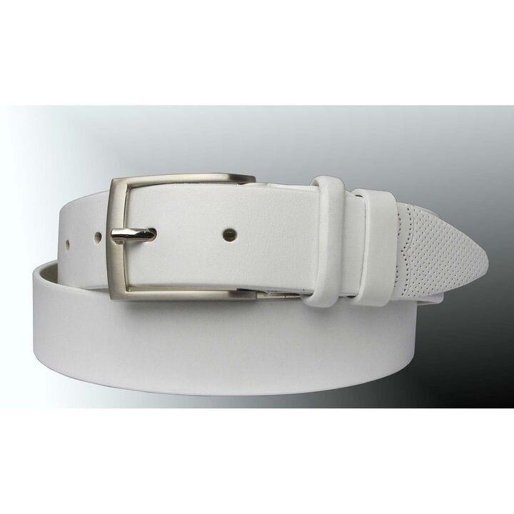 Кожаный мужской ремень JK Белый (MC351080202)