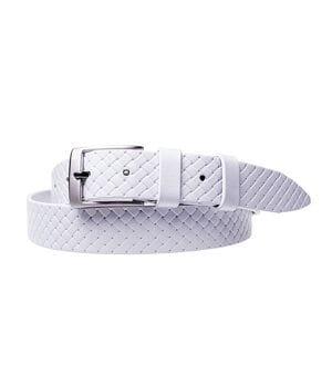 Кожаный ремень для мужчин JK ширина 3.5 см Белый (MC352087801)