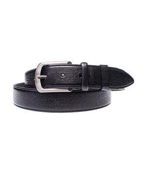 Кожаный ремень для мужчин JK ширина 3.5 см Черный (MC351019113)