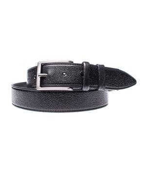 Кожаный ремень для мужчин JK ширина 3.5 см Черный (MC351019110)