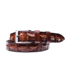 Кожаный ремень для мужчин JK ширина 3.5 см Коричневый (MC352038801)