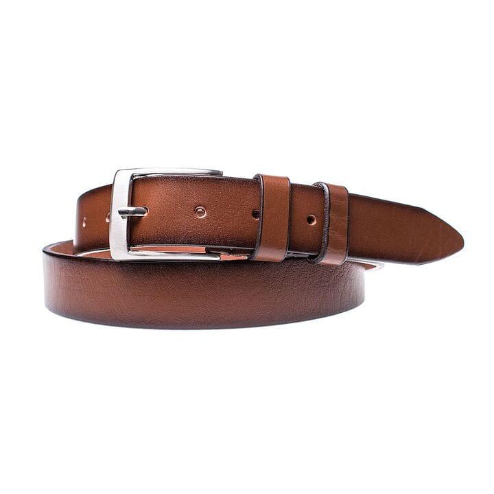 Кожаный ремень для мужчин JK ширина 3.5 см Светло-коричневый (MC352040101)