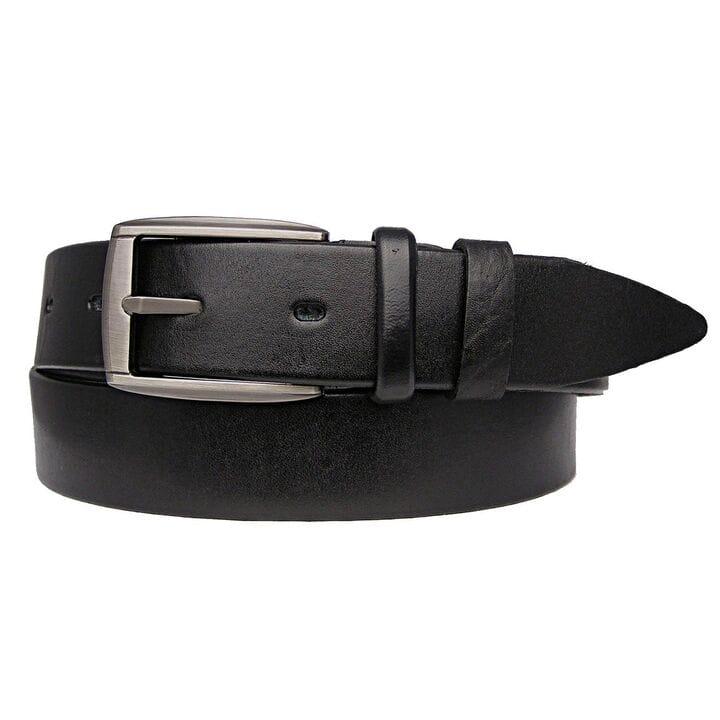 Кожаный мужской ремень JK Черный (MC351010104)
