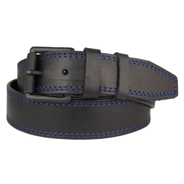 Кожаный мужской ремень JK Черный (MC451018215)