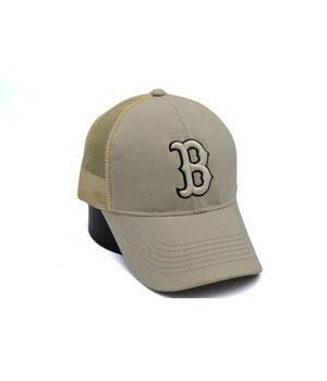 Бейсболка сетка Art cap Boston Red Sox 56-61 см cветло-бежевая (0919-524)