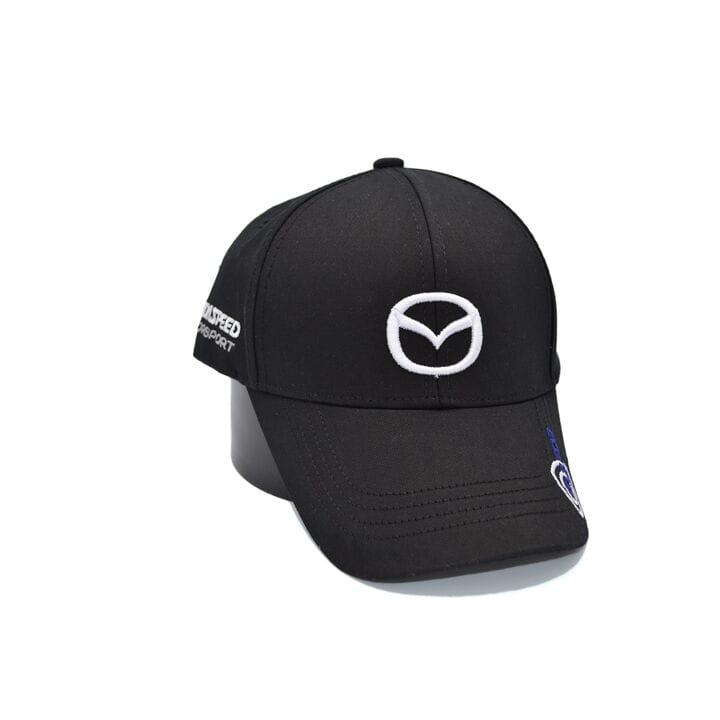 Кепка Fang c автомобильным логотипом Mazda 56-58 см чёрная (F 0919-489)