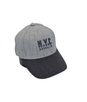 Шерстяная бейсболка фулка N.Y.C. Brooklyn 55-57 см светло-серая (C 0920-335)