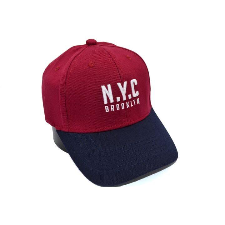 Шерстяная бейсболка фулка N.Y.C. Brooklyn 55-57 см бордовая (C 0920-336)