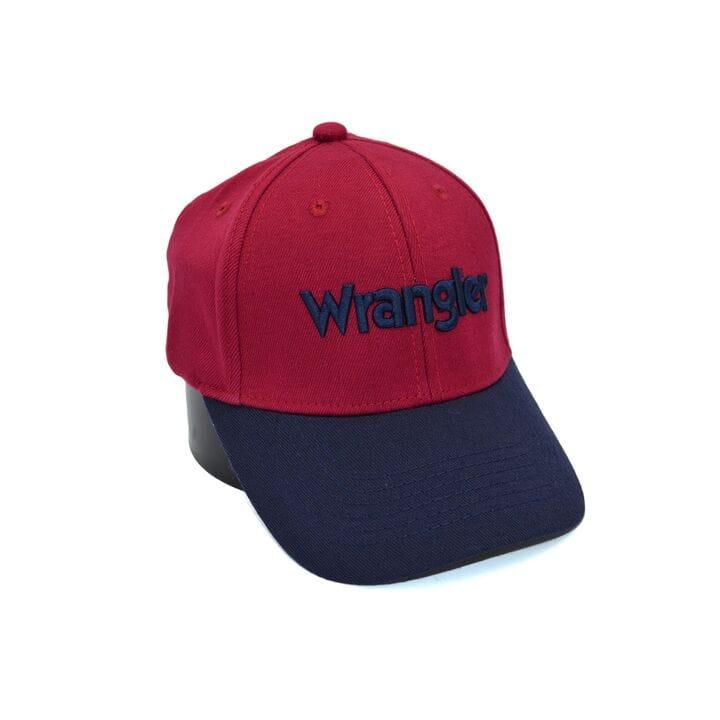 Шерстяная бейсболка фулка Wrangler 55-57 см бордовая (C 0920-340)