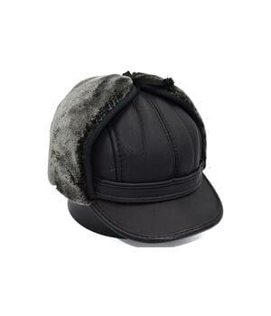 Утеплённая шапка ушанка Zin Wang Zu 56-60 см с меховой подкладкой (Z 0519-360)