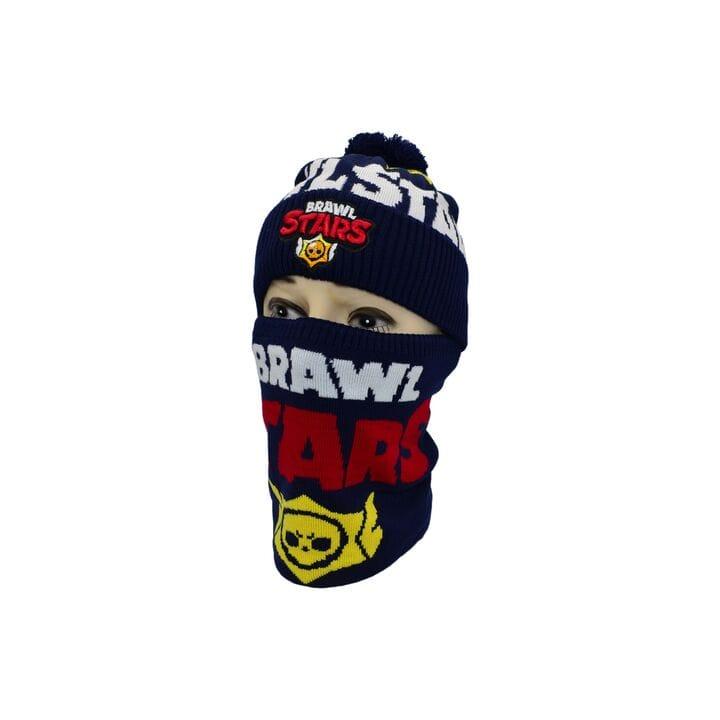 Комплект Flexfit шапка з помпоном и снуд Brawl Stars Темно-синий (F-0918-431)