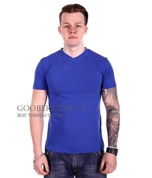 Мужская однотонная футболка 44/9 Mastif синий
