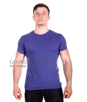 Мужская однотонная футболка Belmode синяя (f216/1)