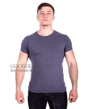 Мужская однотонная футболка Belmode темно-серая (f216/3)