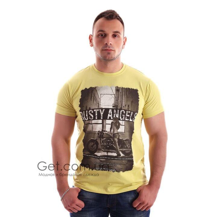 Футболка Rusty Angels турция цвет желтый (f1735/4)