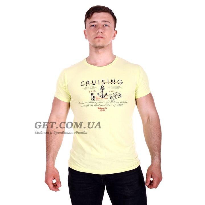Футболка Cruising производство турция желтая (f4874/1)